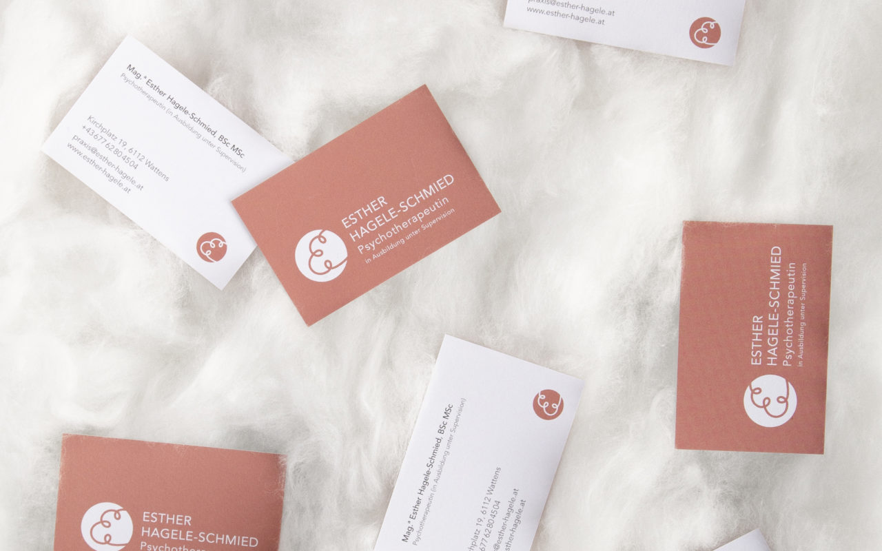 Esther Hagele-Schmied Visitenkarten farbe