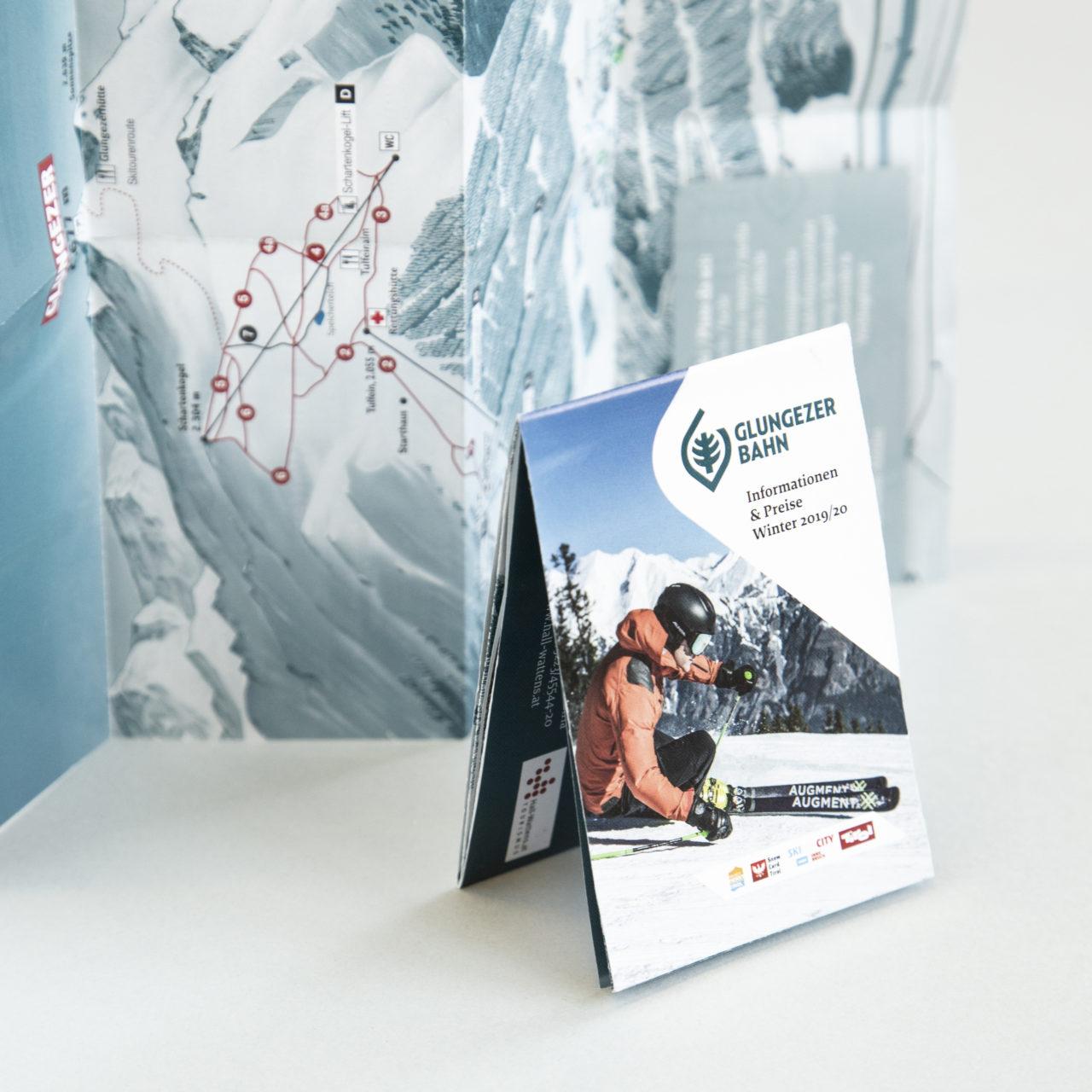 Glungezerbahn Skigebietsfolder