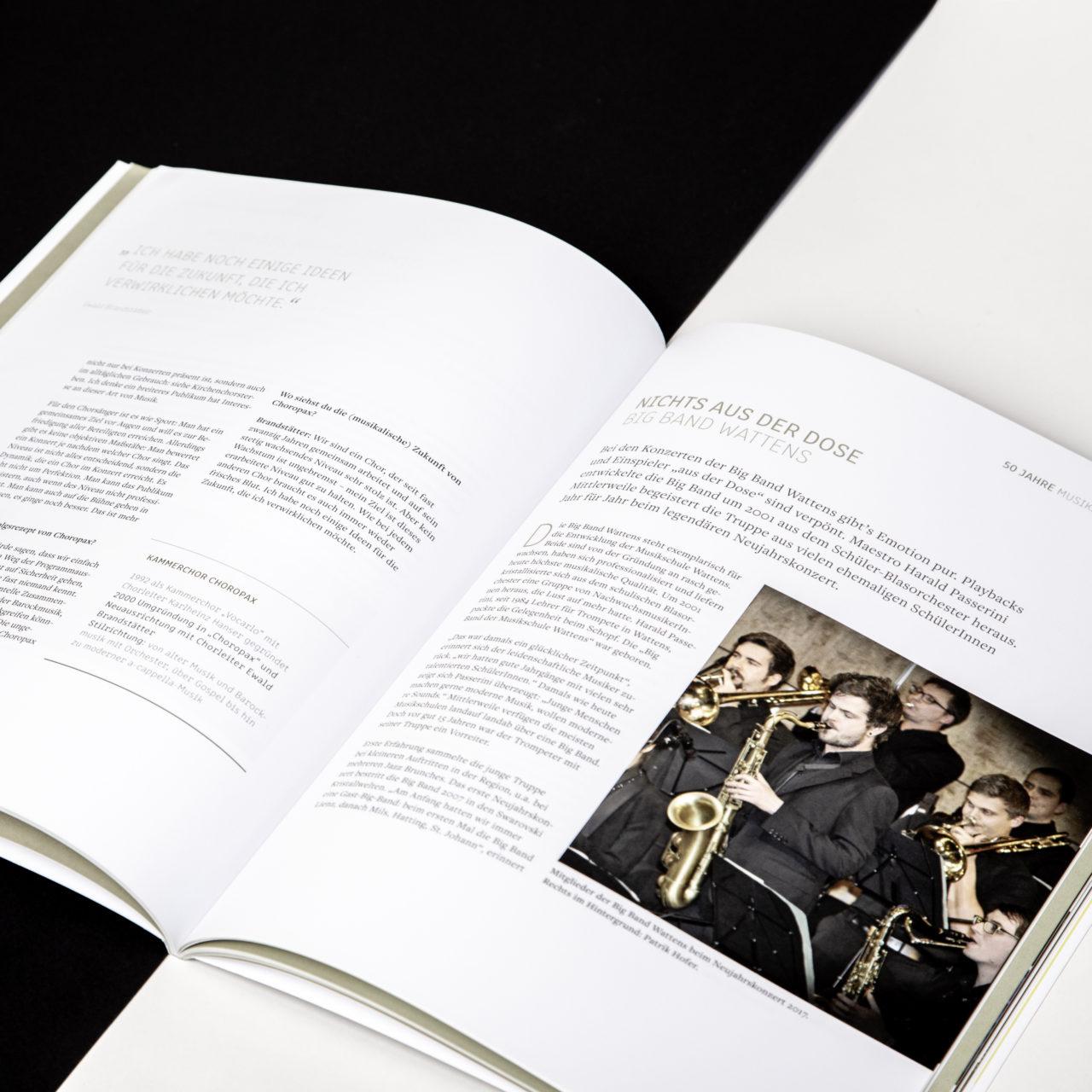 Musikschule Wattens Festschrift Innenseiten