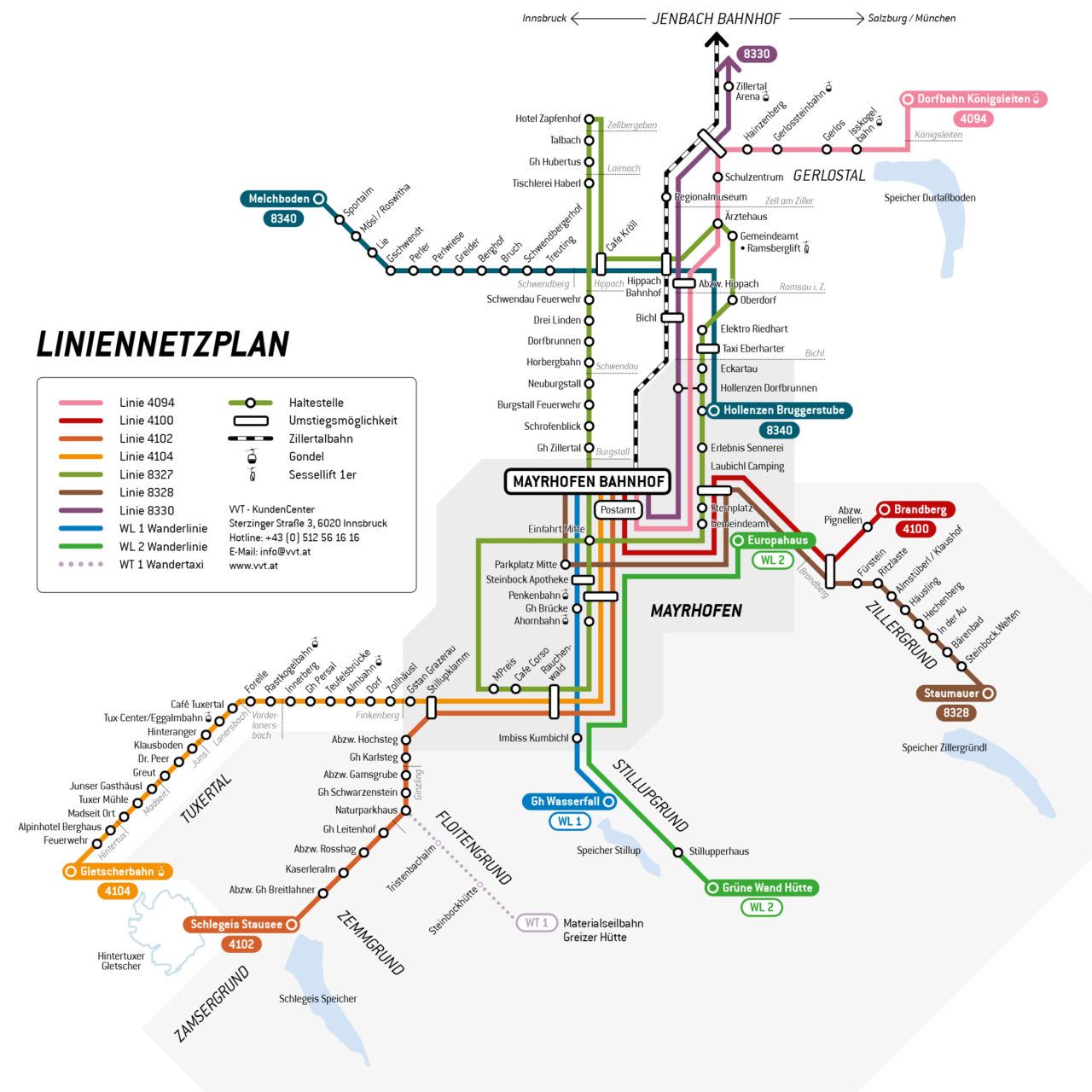 WÖFFI Liniennetzplan