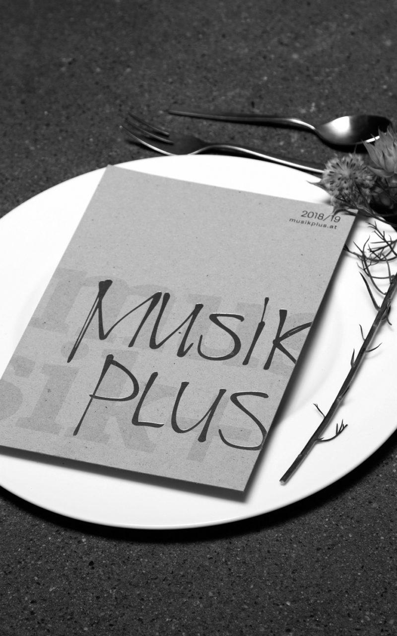 musik+ Flyer grau