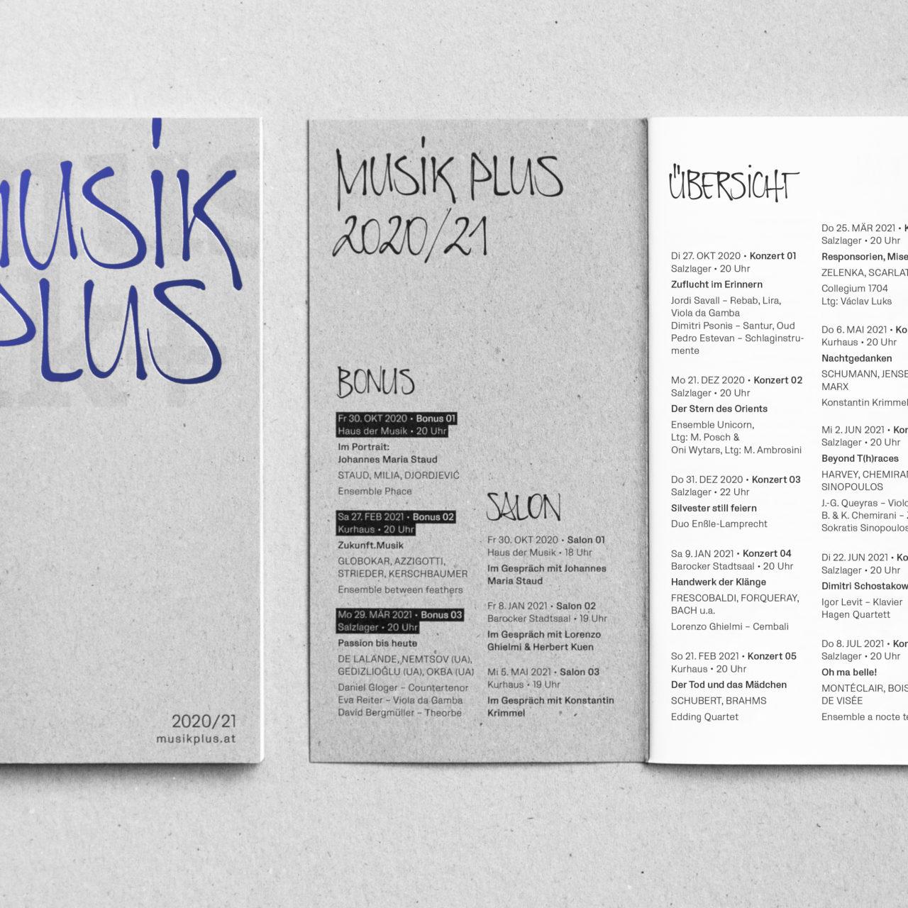 musik+ 2020/21 Programmfolder