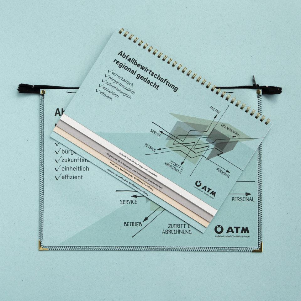 ATM Taschen und Broschüre