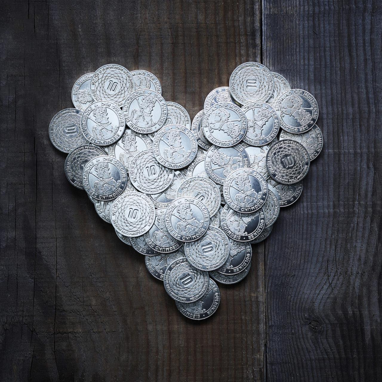 Der Guldiner in Herzform